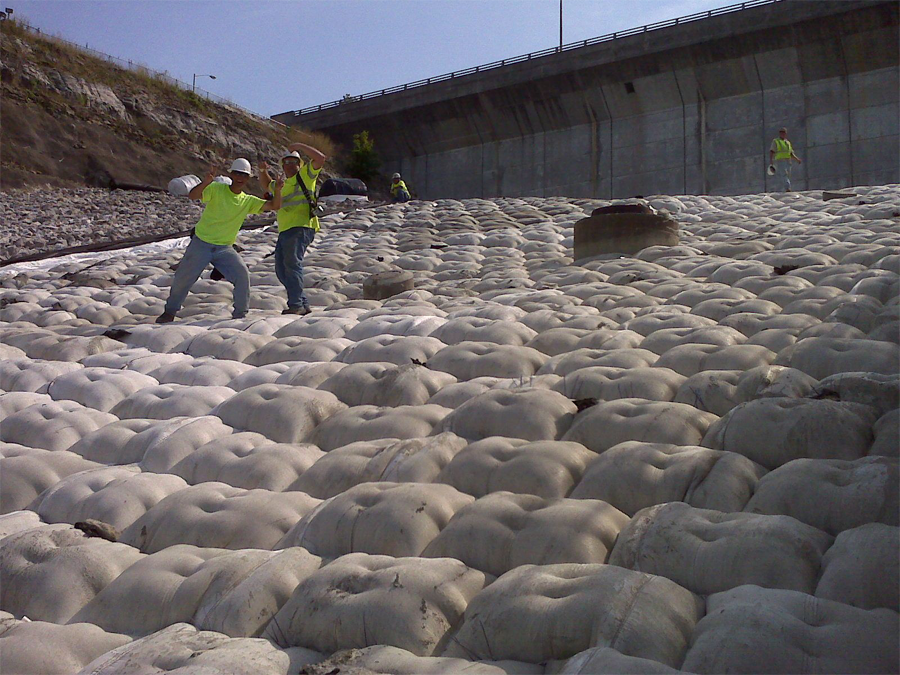 Caribbean Fabric Formed Concrete Erosion Control