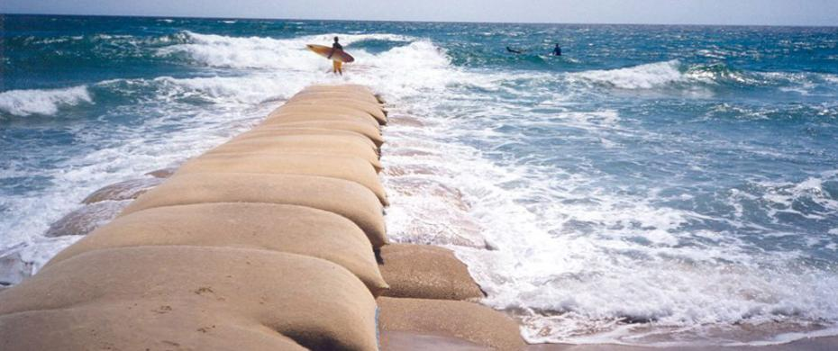 Caribbean Geotextile Hurricane Storm Protection Armored